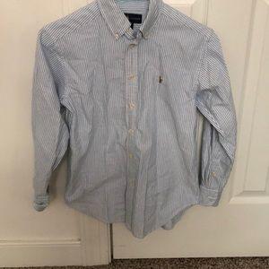 Ralph Lauren Blue and white button down shirt